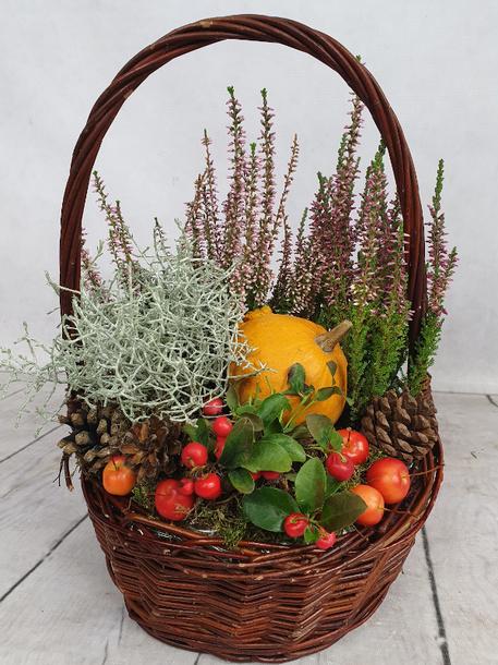 Średni kosz kwiatowy jesienny (1)