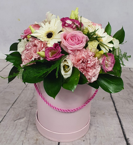 Średni Flower BOX różowy (1)