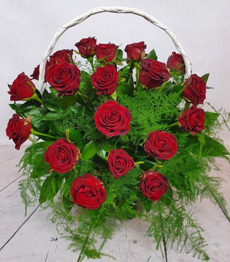 Duży kosz kwiatowy - róża (1)