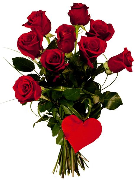 Średni bukiet z róż - 9 szt. (około 60 cm) (1)