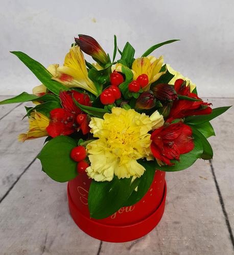 Średni Flower BOX czerwony (1)