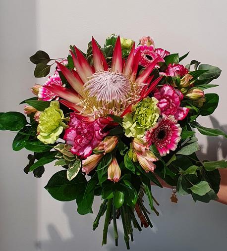 Bukiet z kwiatem egzotycznym - protea 2 (1)