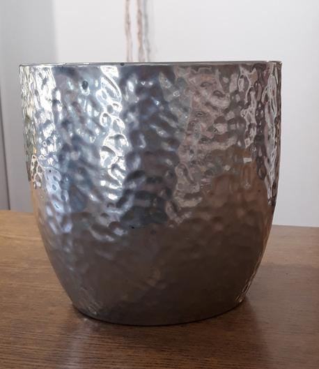 Donica / osłonka srebrna ø16cm, wys.15cm (1)