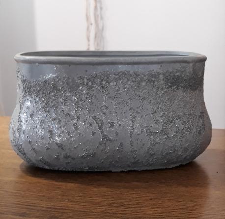 Donica / osłonka lawa owalna 20x11cm, wys.12cm (1)