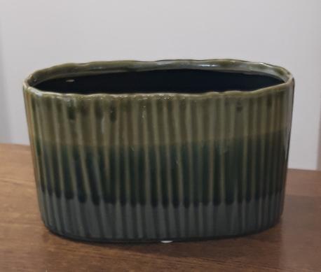 Donica / osłonka zielona mała 10x20cm, wys.11cm (1)