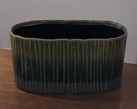 Donica / osłonka zielona duża 12x26cm, wys.13cm (1)