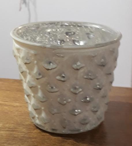Donica / osłonka szkło białe ø13cm, wys.12cm (1)