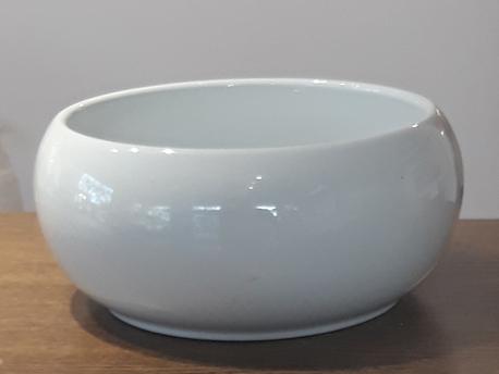 Donica / osłonka biała porcelana ø19cm, wys.9cm (1)
