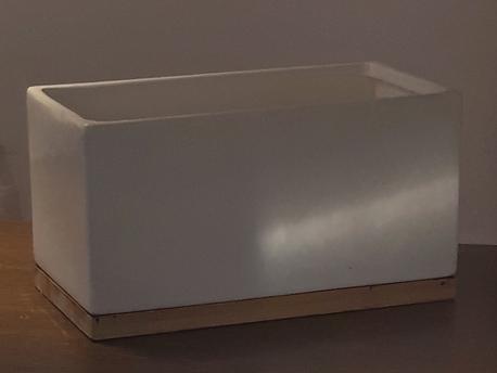 Donica / osłonka prostokątna na drewnie 25x13cm, wys.14cm (1)