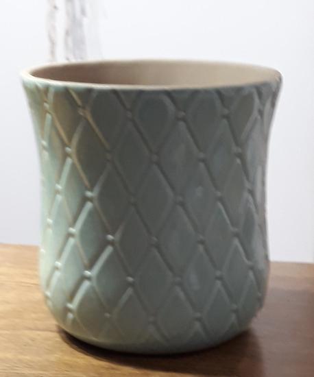Osłonka / donica niebieska  ø15cm, wys.15cm (1)