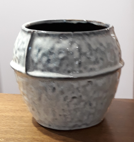 Osłonka / donica żebrowana duża  ø20cm, wys.18cm (1)
