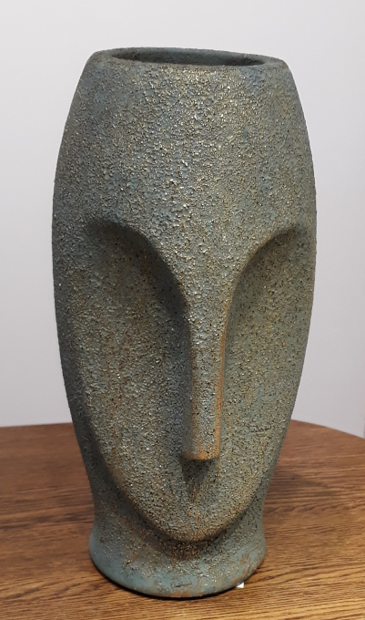 Osłonka / donica głowa z wyspy wielkanocnej  ø14cm, wys.26cm (1)