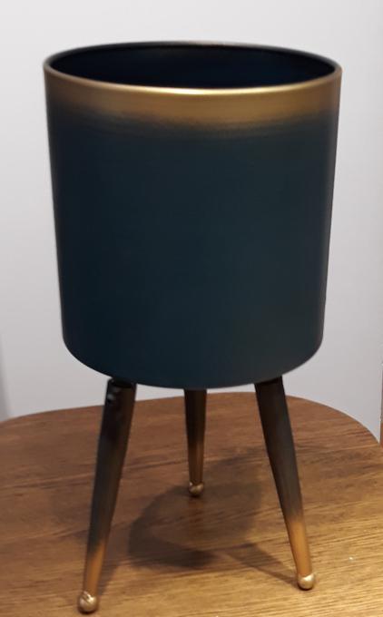 Osłonka / donica stojak metal duży  ø23cm, wys.45cm (1)