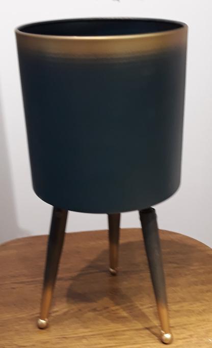 Osłonka / donica stojak metal średni  ø20cm, wys.42cm (1)