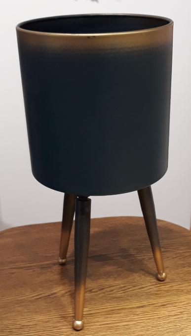 Osłonka / donica stojak metal mały  ø17cm, wys.35cm (1)